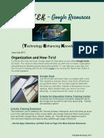 Summer TEK Google Resources for Planning