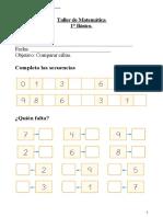 1° año  -  Taller Matemática  -  Comparación