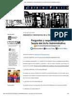 Derecho Público_ PREGUNTAS Y RESPUESTAS DE LA TEORÍA DEL ACTO ADMINISTRATIVO