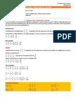 11 - Matemática - Fracciones - Mutiplicación y División