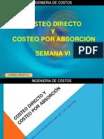 SEMANA VI COSTEO DIRECTO Y POR ABSORCION