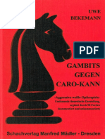 Bekemann Uwe - Gambits gegen Caro Kann, 1999-OCR, 112p