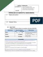 ESTRUCTURA DE COMPUESTOS HIDROCARBUROS