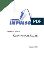 Exactus ERP(Versión 5.0)Cuentas x Pagar