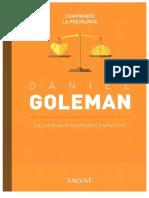 9. Daniel Goleman. La psicología de la inteligencia emocional