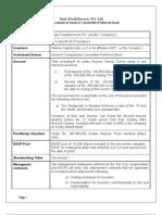Sample Termsheet