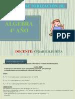 04 ÁLGEBRA - FACTORIZACIÓN (4° AÑO).pptx