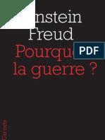 Pourquoi la guerre ?, Einstein/Freud