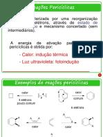 Aula 01 - Reações Pericíclicas (Cicloadição)