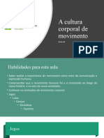 A Cultura de movimento aula 03