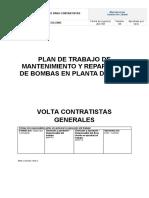 Plan de mantenimiento y reparación de bombas en planta de agua