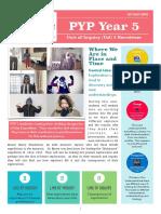 pyp 5 unit 2 newsletter 2