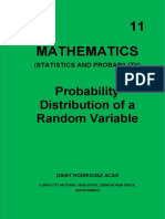 Probability Distribution of a Random Variable Module 11