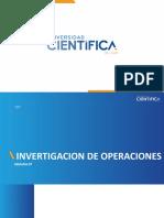 Investigación de operaciones - Semana 07
