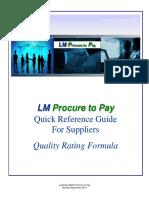 Quality Rating Formula 2013