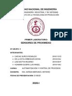SENSORES DE PROXIMIDAD - GRUPO 8