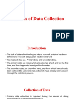 Lecture on Data Collection method