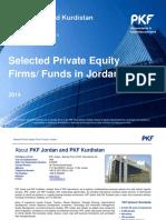 PKF Jordan and Kurdistan - Selected Private Equity Firms-Funds in Jordan - 2014