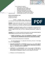 RESOLUCION DE INICIO DE DEMANDA DE EXONERACION
