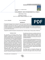 SUSTAINABLE DEVELOPMENT AND ENVIRONMENTAL ETHICS