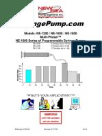 NE-1600 Syringe Pump User Manual