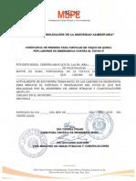 CONSTANCIA PERMISO CIRCULAR PROCESO TRAABJO LIMPIEZA CIUDAD COVID 19