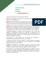 Vocabulario psicologia médica