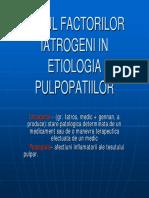 Factorii iatrogeni care influenteaza statusul pulpar