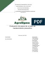 conclusion evluación de pasos de un plan de mantenimiento preventivo
