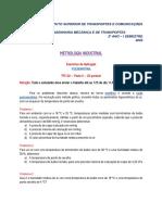 Psicrometria Exercicios