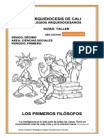 Los Primeros Filósofos - Decimo