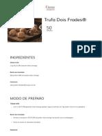 Trufa Dois Frades® _ Receitas food _ Nestlé Professional