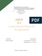 INFORME PSICOLOGIA INDUSTRIAL UNIDAD I - II