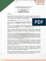 Decreto Municipal 012