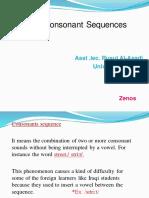 Consonant Sequences مترجم