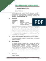 MEMORIA DESCRIPTIVA_CONSTRUCCION DEL CAMINO VECINAL LLINCAG-ATAGO-CARACOSMA-CHORORRAGRA-CUCHIHUAS