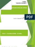 TEMA 4 VALORIZACIONES DE  DE OBRA