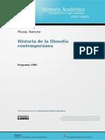 Programa Historia de la filosofía contemporánea-1980