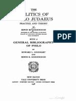 The Politics of Philo Judaeus - E. R. Goodenough