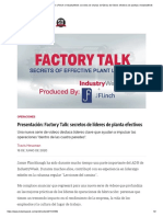 Secretos de charlas de fábrica de líderes efectivos de plantas