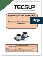 Programación y aplicación de sensor ultrasónico