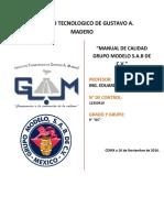 Manual de Calidad del Grupo Modelo S.A.B. de C.V