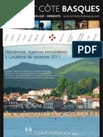 Guide des Locations de Vacances 2011 en  Terre et Côte Basques