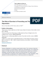 The Role of Exercise in Preventing and Treating Depression (Schuch 2019)