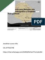 16.DELIMITACION DE CUENCA HIDROGRAFICA 1