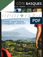 Guide des Villages Vacances 2011 en  Terre et Côte Basques
