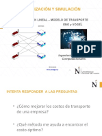 Modelos de Transporte - PL