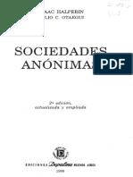 Halperín Isaac, Otaegui Julio C., Sociedades Anónimas 171 - 208
