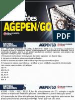 Bateria de questões Agepen GO