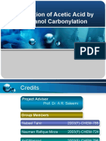 Production of Acetic Acid by Methanol Carbonylation